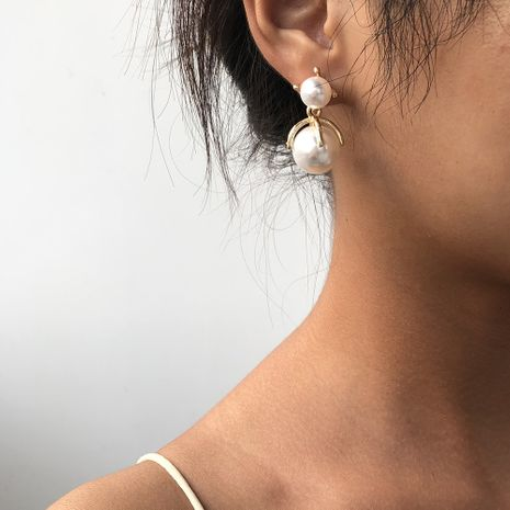 Fashion trend alloy pearl exquisite earrings for women hot-saling wholesale NHMD248044's discount tags