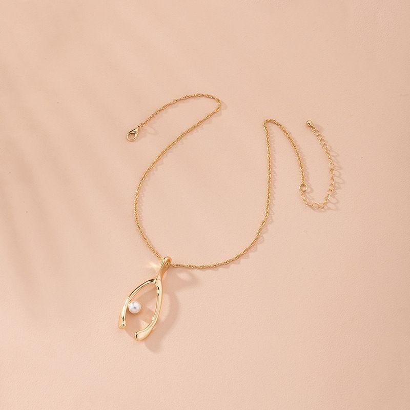 Collier en alliage irrgulier gomtrique minimaliste coren nouvelle mode pour femmes bijoux en gros NHAI248056