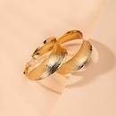 Geometric fashion wave texture alloy earrings for women wholesale NHAI248059