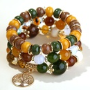 trend simple metal tree of life candy beads multilayer fashion bracelet NHSC248191