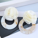 fashion wild rose concise circle acrylic earrings for women wholesale NHSC248185