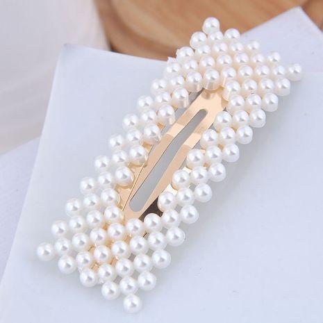 Perle coréenne simple simple perle de mode en épingle à cheveux clip latéral en gros NHSC248075's discount tags