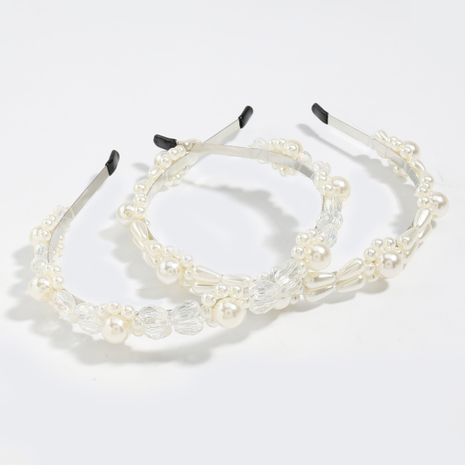 Korean alloy pearl flower fashion beautiful hair band fairy headband  NHJE248099's discount tags