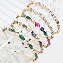 diadema de mujer de hadas de diamantes de color flash de cristal tachonado de diamantes de aleación de gran venta NHJE248103