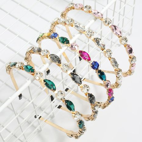 hot-selling alloy diamond-studded glass diamond flash color diamond fairy women's headband  NHJE248103's discount tags
