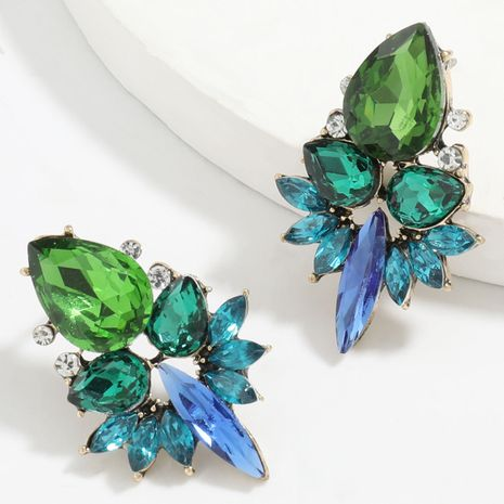 Fashion color diamond series alloy diamond rhinestone glass diamond full diamond earrings wholesale NHJE248106's discount tags