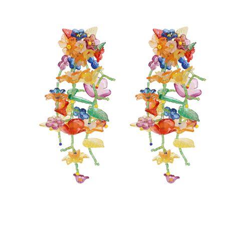 Borla de flor tejida a mano exagerada flor pequeña moda pendientes de mujer salvaje NHJJ248112's discount tags