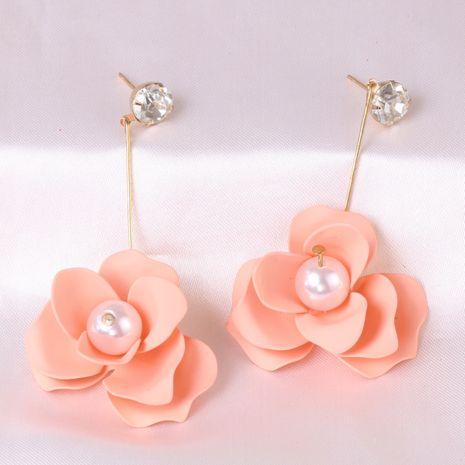 venta al por mayor de los pendientes de las mujeres de la moda de la flor del color de la pintura de estaño nuevos al por mayor NHJJ248113's discount tags