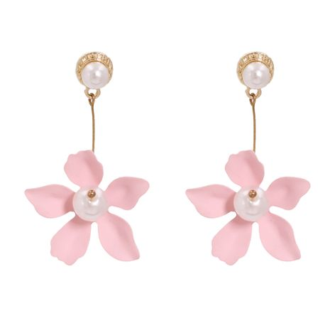 hot-selling new tin paint color flower fashion women's alloy earrings wholesale NHJJ248117's discount tags
