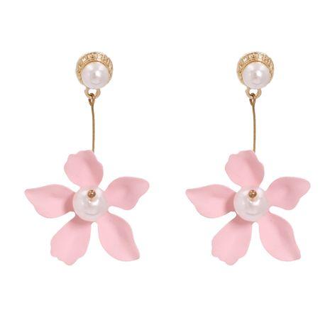 vente chaude de nouvelles boucles d'oreilles en alliage de mode fleur couleur peinture étain NHJJ248117's discount tags