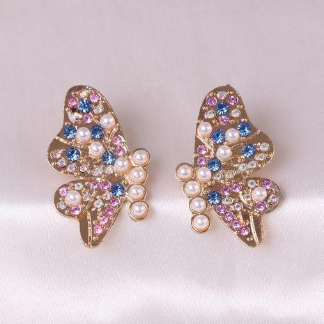 nouvelles boucles d'oreilles en diamant papillon exagérées pour femmes NHJJ248118's discount tags