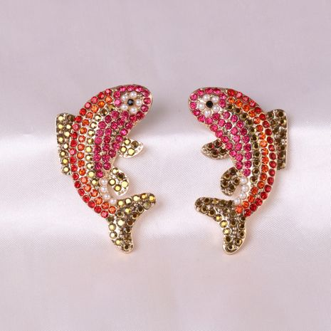 Red Koi Small Fish Carp Jumping Dragon Earrings Wholesale NHJJ248119's discount tags