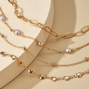 new allmatch alloy round bead fashion love pearl anklet 4piece suit for women NHGY248135