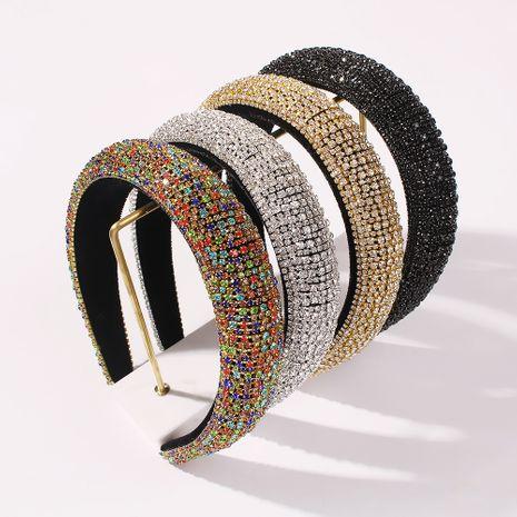 Women's simple sponge pure handmade fashion beaded drill headband NHMD248143's discount tags