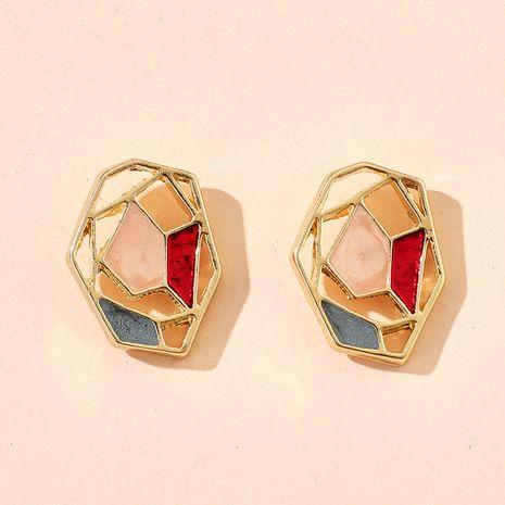 Nuevos pendientes de perlas de flores de círculo de figuras geométricas de color coreano al por mayor NHGY248154's discount tags