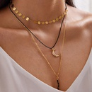 fashion turquoise feather love moon alloy fivestar square pearl pendant necklace for women NHGY248156