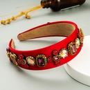 fashion widebrimmed fabric headband Womens retro wild go out full drill headband  NHLN248171