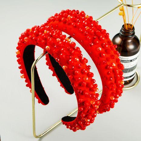 Korean pattern geometric red plaid women's hairpin headband hair accessories NHLN248173's discount tags