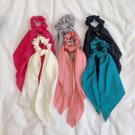 Coréen couleur pure tissu arc ruban cheveux corde simple anneau de cheveux coiffure en gros NHOF248177's discount tags
