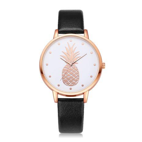 Venta al por mayor del reloj del cuarzo del modelo de la piña de la moda del reloj de pulsera de las señoras NHSS248207's discount tags