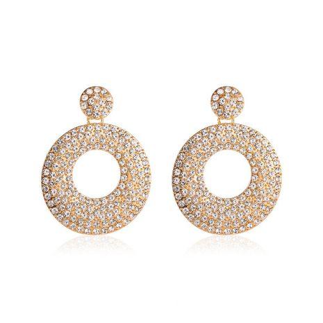 Nuevo lleno de diamantes redondos retro huecos pendientes de círculo geométrico al por mayor NHCU248249's discount tags