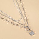 new punk style multilayer long lock hiphop style word buckle alloy sweater chain for women NHCU248250