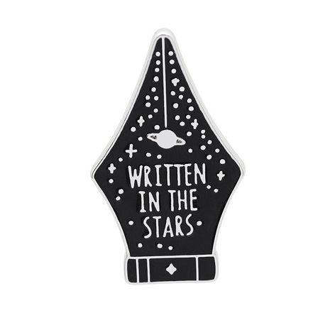 Broche de pluma de estrella de moda insignia de aleación salvaje de estudiante de letra inglesa negra NHCU248255's discount tags