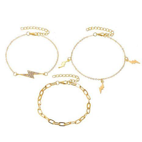 nouveau bracelet à la mode pour femmes à la mode avec des éclairs cloutés de diamants 3 pièces NHCU248263's discount tags