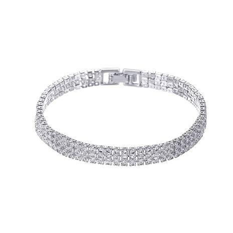 nouveau bracelet diamant simple à trois rangs NHCU248264's discount tags