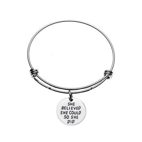 elle croit qu'elle pourrait alors elle a fait un bracelet de lettre de personnalité NHCU248271's discount tags