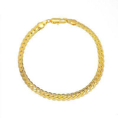 nueva exquisita cadena en relieve simple pulsera de metal con cadena giratoria para hombres NHCU248287's discount tags