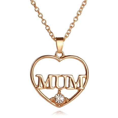 New Mother's Day Gifts for mum Hollow Diamond Love-shaped alloy Necklace Accessories NHCU248293's discount tags