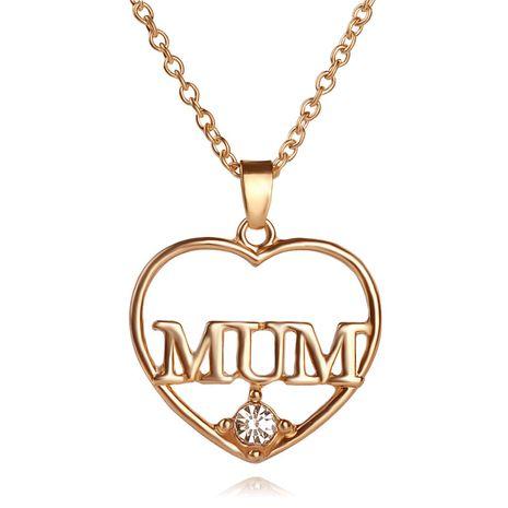 Neue Muttertagsgeschenke für Mama Hollow Diamond Love-förmige Legierung Halskette Zubehör NHCU248293's discount tags