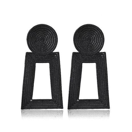 Nuevos pendientes colgantes de aleación trapezoidal hueca de metal de grano cuadrado geométrico para mujer NHCU248295's discount tags