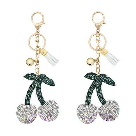Corée velours diamant clouté cerise fruits cloche gland sac voiture ornement porte-clés pendentif NHAP248320's discount tags