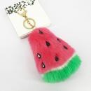 New rabbit fur fruit watermelon plush faux fur ball keychain pendant bag accessories NHAP248321
