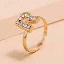 Korean fashion allmatch ring simple trendy diamond R letter ring wholesale NHKQ248369