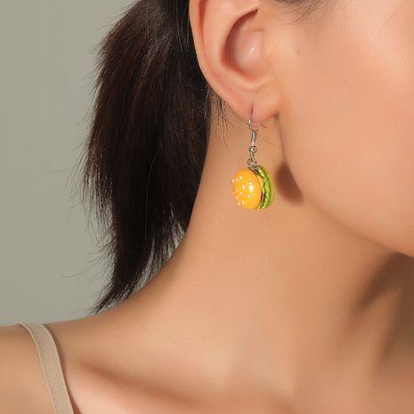 Mode coréenne amusement mignon simulation alimentaire simple acrylique boucles d'oreilles drôles hamburger NHKQ248389's discount tags