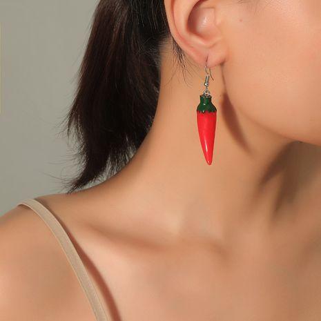 Mode coréenne mignon simulation sauvage nourriture simple tendance résine boucles d'oreilles poivron rouge NHKQ248391's discount tags