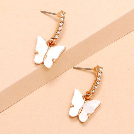 Pendientes de mariposa de diamantes de marea simple dulce hada salvaje de la moda de Corea NHKQ248392's discount tags
