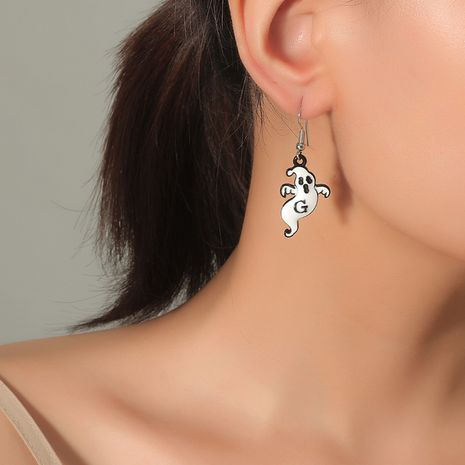 tendencia de moda simple Halloween lindo y divertido fantasma pendientes goteando NHKQ248393's discount tags