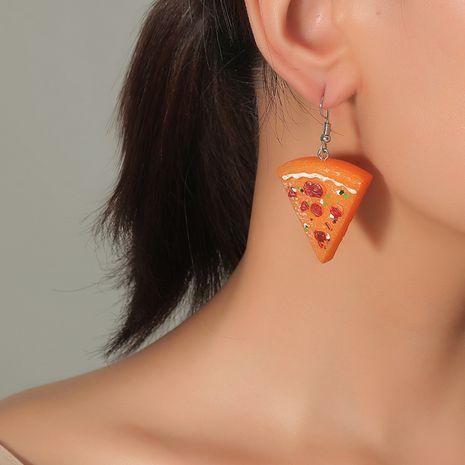Pendientes de tendencia de venta caliente de pizza de simulación infantil linda de la moda de Corea NHKQ248396's discount tags