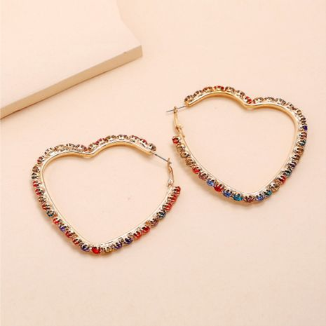 nueva tendencia exagerada moda salvaje simples pendientes de amor de diamantes huecos retro NHKQ248402's discount tags