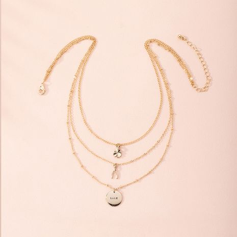 Fashion portrait alloy multilayer sweater chain women's alloy jewelry NHAI248404's discount tags