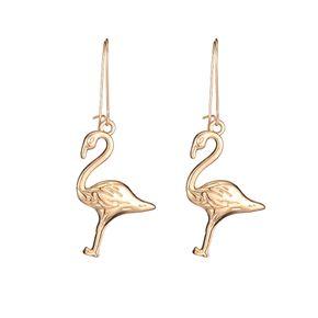 new simple alloy long red-crowned crane earrings wholesale nihaojewelry NHOA248415