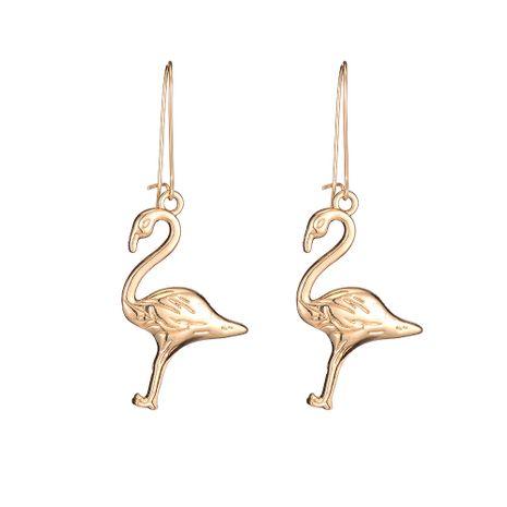 nouvelles boucles d'oreilles de grue à couronne rouge en alliage simple en gros nihaojewelry NHOA248415's discount tags