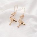 new simple alloy long redcrowned crane earrings wholesale nihaojewelry NHOA248415