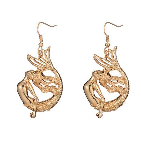 nouvelle oreille bijoux alliage sirène simples boucles d'oreilles sirène en gros NHOA248418's discount tags