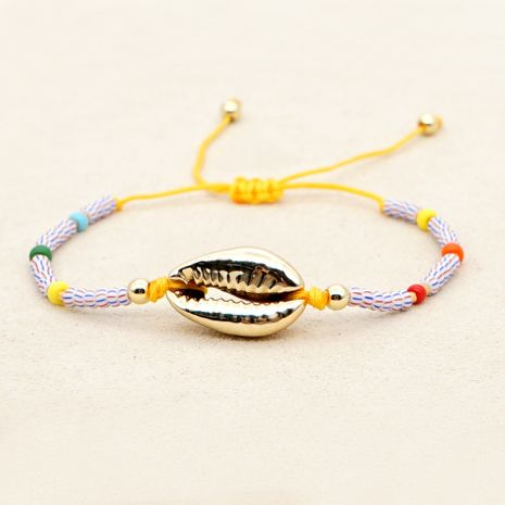 niche natural shell gold-plated hand-woven imported watermelon beads fashion bracelet for women NHGW248439's discount tags