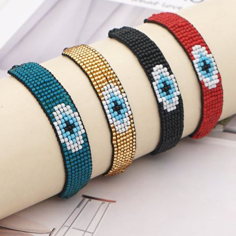 hot-saling models rice beads hand-woven devil eyes ethnic style bracelet for women NHGW248452's discount tags